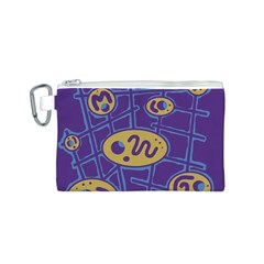 Purple and yellow abstraction Canvas Cosmetic Bag (S)