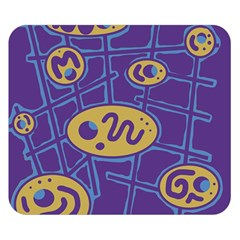 Purple and yellow abstraction Double Sided Flano Blanket (Small)