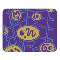 Purple and yellow abstraction Double Sided Flano Blanket (Large)