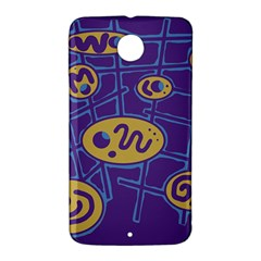 Purple and yellow abstraction Nexus 6 Case (White)