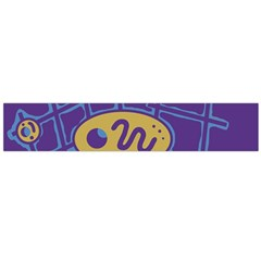 Purple and yellow abstraction Flano Scarf (Large)