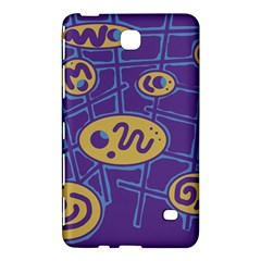 Purple and yellow abstraction Samsung Galaxy Tab 4 (7 ) Hardshell Case