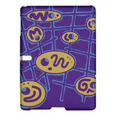 Purple and yellow abstraction Samsung Galaxy Tab S (10.5 ) Hardshell Case