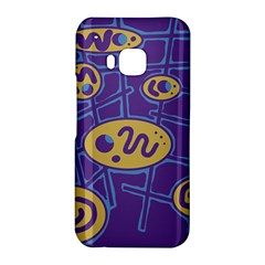 Purple and yellow abstraction HTC One M9 Hardshell Case