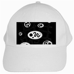 Black and white crazy abstraction  White Cap