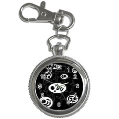 Black and white crazy abstraction  Key Chain Watches