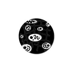 Black and white crazy abstraction  Golf Ball Marker (4 pack)