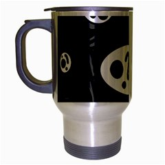 Black and white crazy abstraction  Travel Mug (Silver Gray)