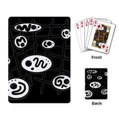 Black and white crazy abstraction  Playing Card