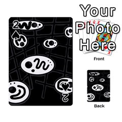 Black and white crazy abstraction  Playing Cards 54 Designs