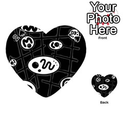 Black and white crazy abstraction  Playing Cards 54 (Heart)