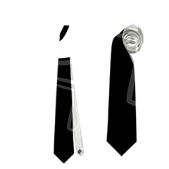 Black and white crazy abstraction  Neckties (Two Side)