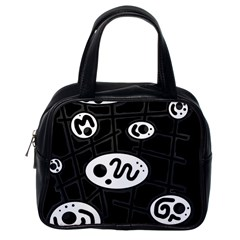 Black and white crazy abstraction  Classic Handbags (One Side)