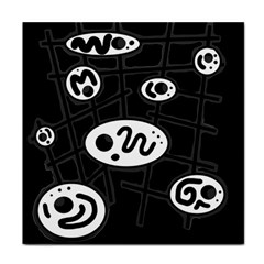 Black and white crazy abstraction  Face Towel