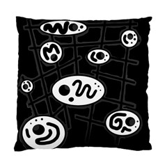 Black and white crazy abstraction  Standard Cushion Case (One Side)