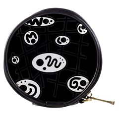 Black and white crazy abstraction  Mini Makeup Bags