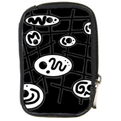 Black and white crazy abstraction  Compact Camera Cases