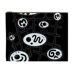 Black and white crazy abstraction  Cosmetic Bag (XL)