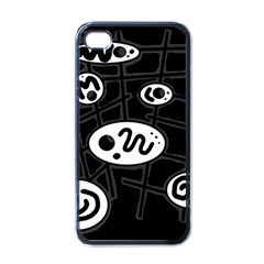 Black and white crazy abstraction  Apple iPhone 4 Case (Black)