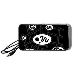 Black and white crazy abstraction  Portable Speaker (Black)