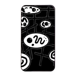 Black and white crazy abstraction  Apple iPhone 4/4s Seamless Case (Black)