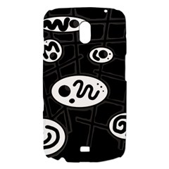 Black and white crazy abstraction  Samsung Galaxy Nexus i9250 Hardshell Case