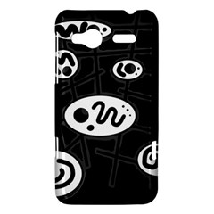 Black and white crazy abstraction  HTC Radar Hardshell Case