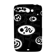 Black and white crazy abstraction  HTC ChaCha / HTC Status Hardshell Case