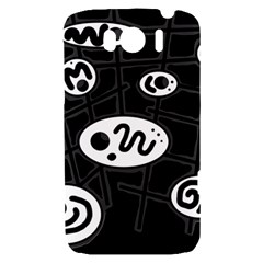 Black and white crazy abstraction  HTC Sensation XL Hardshell Case