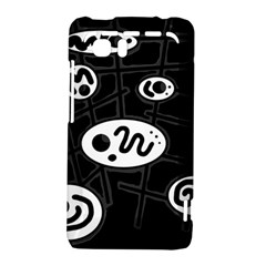 Black and white crazy abstraction  HTC Vivid / Raider 4G Hardshell Case