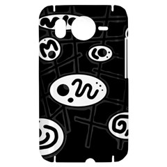 Black and white crazy abstraction  HTC Desire HD Hardshell Case