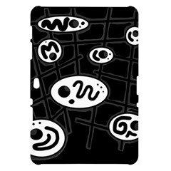 Black and white crazy abstraction  Samsung Galaxy Tab 10.1  P7500 Hardshell Case