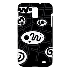 Black and white crazy abstraction  Samsung Galaxy S II Skyrocket Hardshell Case
