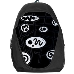 Black and white crazy abstraction  Backpack Bag
