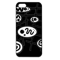 Black and white crazy abstraction  Apple iPhone 5 Seamless Case (Black)