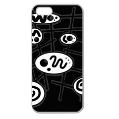 Black and white crazy abstraction  Apple Seamless iPhone 5 Case (Clear)