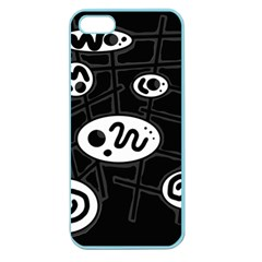 Black and white crazy abstraction  Apple Seamless iPhone 5 Case (Color)