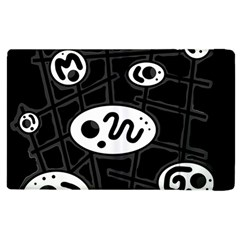 Black and white crazy abstraction  Apple iPad 2 Flip Case