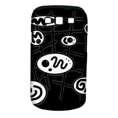 Black and white crazy abstraction  Samsung Galaxy S III Classic Hardshell Case (PC+Silicone)