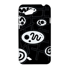 Black and white crazy abstraction  HTC Desire VC (T328D) Hardshell Case