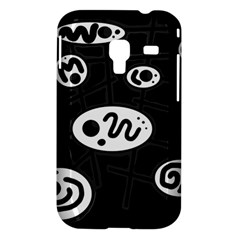Black and white crazy abstraction  Samsung Galaxy Ace Plus S7500 Hardshell Case