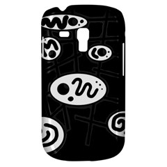 Black and white crazy abstraction  Samsung Galaxy S3 MINI I8190 Hardshell Case
