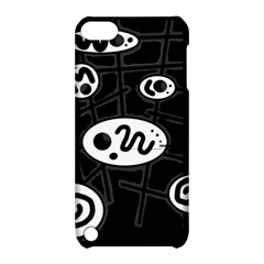 Black and white crazy abstraction  Apple iPod Touch 5 Hardshell Case with Stand