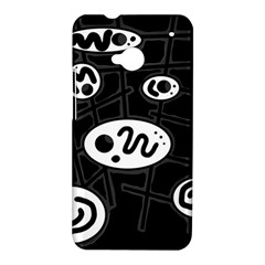 Black and white crazy abstraction  HTC One M7 Hardshell Case