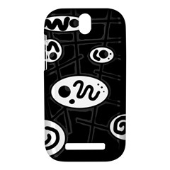 Black and white crazy abstraction  HTC One SV Hardshell Case