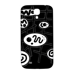 Black and white crazy abstraction  Samsung Galaxy S4 I9500/I9505  Hardshell Back Case