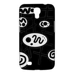 Black and white crazy abstraction  Samsung Galaxy Mega 6.3  I9200 Hardshell Case