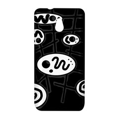 Black and white crazy abstraction  HTC One Mini (601e) M4 Hardshell Case