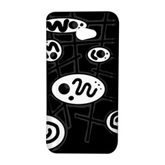 Black and white crazy abstraction  HTC Butterfly S/HTC 9060 Hardshell Case