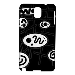 Black and white crazy abstraction  Samsung Galaxy Note 3 N9005 Hardshell Case